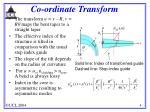 co ordinate transform