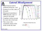 lateral misalignment