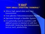 v sat very small aperture terminal