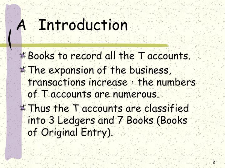 what are the books of original entry