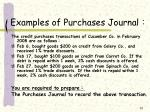 examples of purchases journal