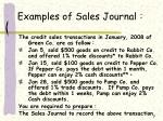 examples of sales journal