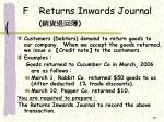 f returns inwards journal