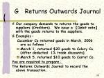 g returns outwards journal