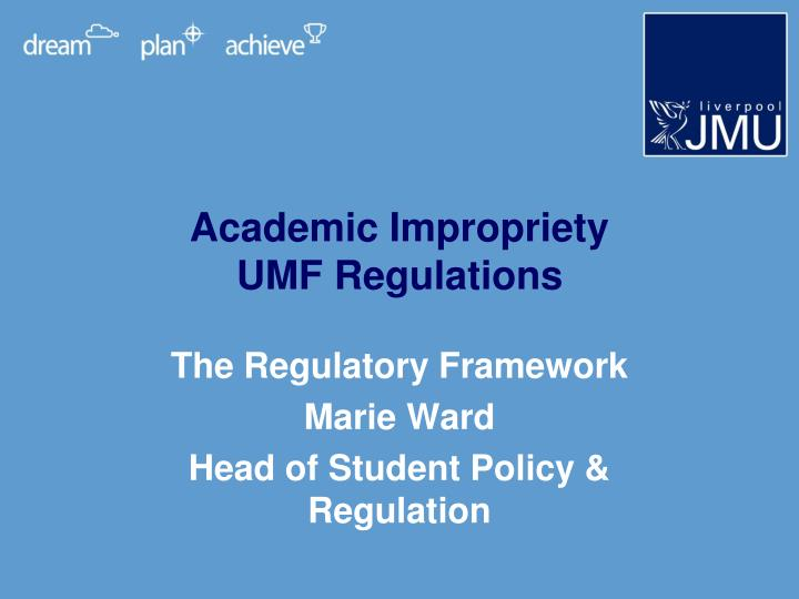 academic impropriety umf regulations n.