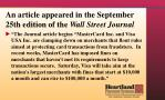 an article appeared in the september 25th edition of the wall street journal