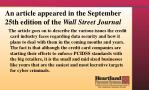 an article appeared in the september 25th edition of the wall street journal1