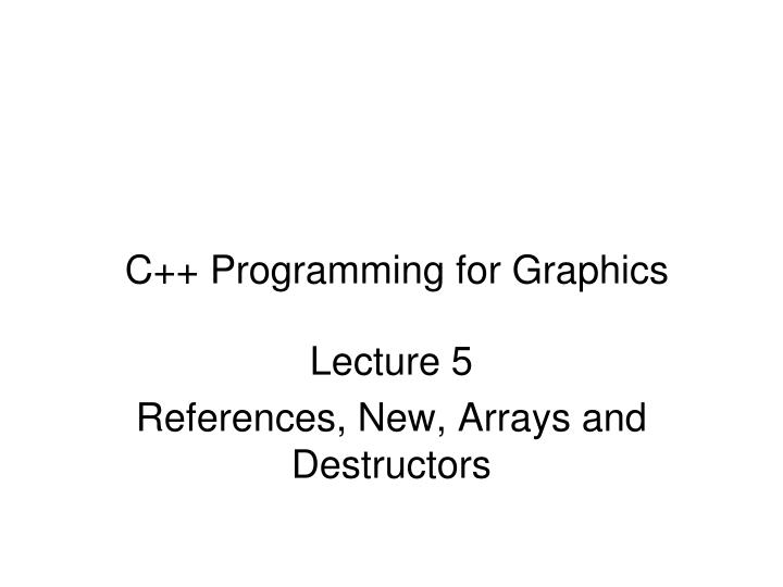 c programming for graphics n.