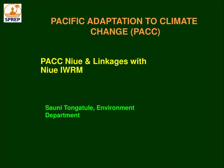 pacific adaptation to climate change pacc n.