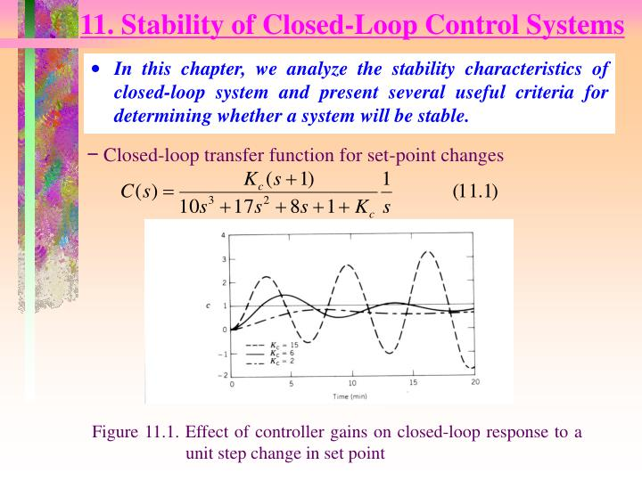 11 stability of closed loop control systems n.