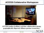 access collaborative workspaces