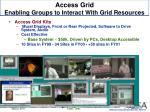 access grid enabling groups to interact with grid resources