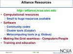 alliance resources