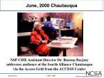 june 2000 chautauqua