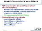 national computation science alliance