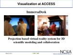 visualization at access