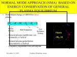 normal mode approach nma based on energy conservation of general plasma equilibrium