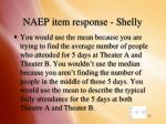 naep item response shelly