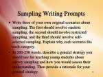 sampling writing prompts