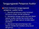 tanggungjawab pelaporan auditor