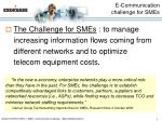 e communication challenge for smes1