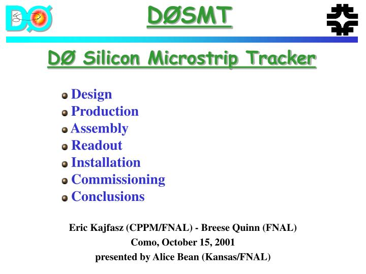 d silicon microstrip tracker n.