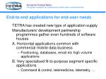 end to end applications for end user needs