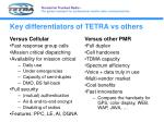 key differentiators of tetra vs others