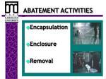 abatement activities
