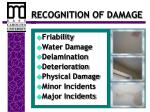 recognition of damage