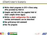 client user s scenario