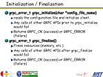 initialization finalization