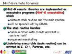 ninf g remote libraries
