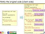 ninfy the original code client side