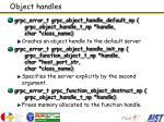object handles