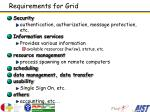 requirements for grid