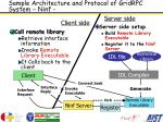 sample architecture and protocol of gridrpc system ninf