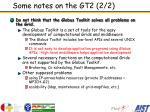some notes on the gt2 2 2