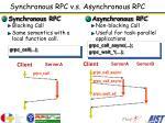 synchronous rpc v s asynchronous rpc