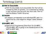 terminloogy cont d