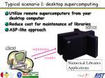 typical scenario 1 desktop supercomputing
