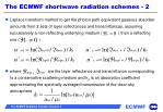 the ecmwf shortwave radiation schemes 21
