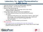 laboratory for applied pharmacokinetics lapk portal