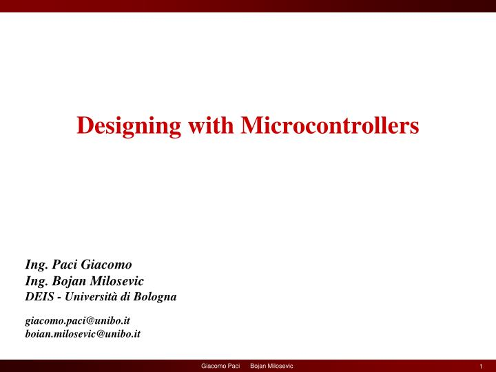 designing with microcontrollers n.