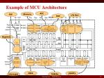 example of mcu architecture