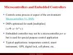 microcontrollers and embedded controllers