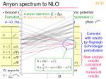anyon spectrum to nlo1