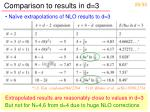 comparison to results in d 3