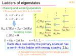 ladders of eigenstates