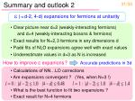 summary and outlook 2
